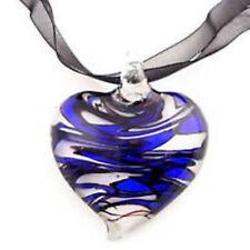 LAMPWORK MURANO GLASS 45MM HEART PENDANT