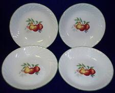Corelle Chutney Pasta Cream Soup Bowls Set of 4 Swirled Border Fruit Pattern EUC