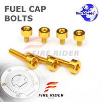 FRW Gold Fuel Cap Bolts Set For Honda CB 900 F Hornet 01-07 02 03 04 05 06 07