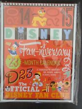 Disney D23 2014 2015 23 Month Calendar Fan-Niversary Gold Member Gift New Sealed