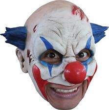 Clown Mask Blue Hair Fancy Dress Adult Latex Creepy Joker Circus 27501 Horror