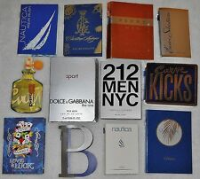 12 Mens Cologne Samples Lot 212 Dolce & Gabbana Nautica Polo Curve Perry Ellis