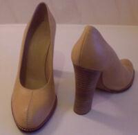 CHARLES JOURDAN France Tan Brown Heels Pumps Court Shoes Size UK 5 EU 38 US 7
