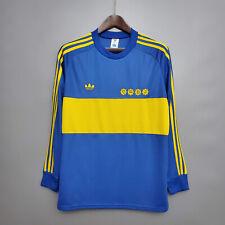 1981 Boca Juniors Home Shirt 10 Maradona Long Sleeve Retro Soccer Jersey