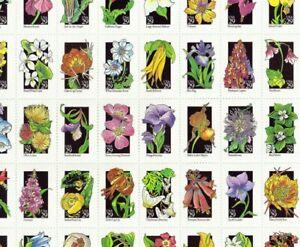 #2647-96 1992 WILDFLOWERS ARTS full mint sheet of 50 MNH OG