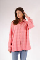 Vintage Checked Flannel Shirt Pink (XL)