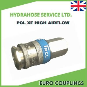 PCL XF Euro Couplings High Flow 1/4 BSP Air Line (Same As Parker Rectus 25)