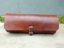 Oval Tool Bag Saddle Dark Brown Handmade For Vintage Bicycle Eye Glass Bag Etc