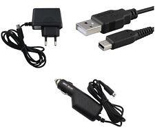 Chargeur secteur + allume cigare + USB pour Nintendo DSI - DSI XL - 2DS - 3DS