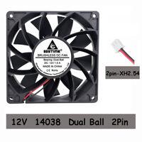12V Ball Bearing 140mm x 140mm x 38mm PC CPU Computer Case Cooling Fan 2pin