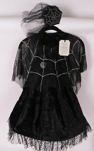 Pottery Barn Kids Light Up Spider Queen Halloween costume, 4-6 4t 5t 6t