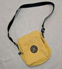 Kipling Yellow Crossbody Strap Tote Purse Bag Pack Satchel 80s 90s *RARE VINTAGE