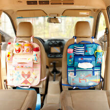 Washable Cartoon Car Seat Back Hanging Storage Organiser Portable Cute Tidy Bags