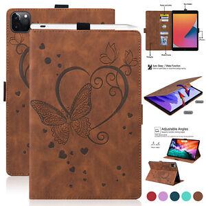 """For iPad 5678 10.2 Air123 Pro 12.9 11"""" Mini Folio Leather Case Cover Sleep/Wake"""