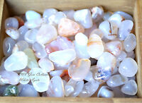 Tumbled Gemstone Crystal Milky White Agate chalcedony Chipstone 5g Protection