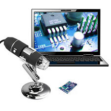 USB Microscope Endoscope 1000X 2MP 8LED Digital Magnifier Camera Black Exquisite