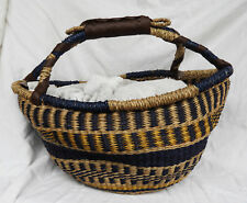 Hand Woven Large Bolga Style Basket from Vietnam - New