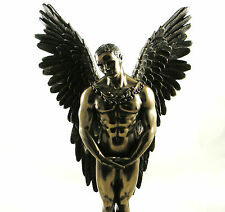 Naked Male Angel Figurine Gay Icon Erotic Standing Bronzed Statue Figure NEW IN