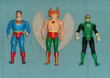 vintage Kenner SUPER POWERS LOT #45 Green Lantern HAWKMAN Superman