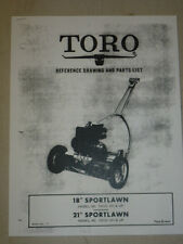 "1955 TORO MOWER OPERATING PARTS MANUAL SPORTLAWN 18"" 21"" BOOK NO.111"