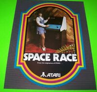 Space Race Arcade FLYER 1973 Original Early Atari NOS Space Age Art Video Game
