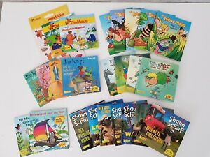 Pixibücher Konvolut: Maus, Biene Maja, Jim Knopf, Shaun, Ritter Rost, Maulwurf