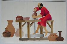 Guazzo Acquerello Potter Ceramica Atelier PIERRE-HENRI BOUSSARD Sard #16 Arte