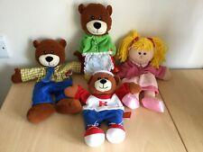 TELLATALE HAND PUPPETS SET GOLDILOCKS AND THREE BEARS RARE HTF