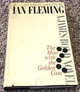 The Man With The Golden Gun - Ian Fleming (HC, DJ, 1965) 1st print - James Bond