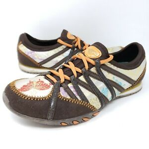 Rocketdog Women's Orient Sneakers 9 Brown Multi Lace Up Butterfly Athletic Shoes