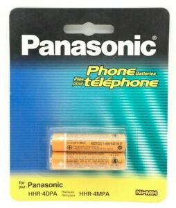Panasonic AAA NiMH Rechargeable Batteries for DECT Cordless Phones HHR-4DPA NEW
