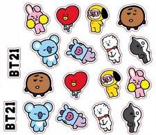 Kpop BTS EXO GOT 7 WANNA ONE BT21 Phone Sticker Paper Bubble Stickers Decoration