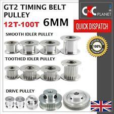 GT2 6mm Correa Unidad de Diente Polea Polea Suave 16 orificio de 20 30 36 40 60 3 5 8