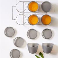 Pampered Chef : 6-Piece Freezer Bowl Set & Rack  - Free shipping