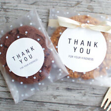 100x Clear Self Adhesive Cookie Baking Party Bag Gift Candy Package Kitchen Bags