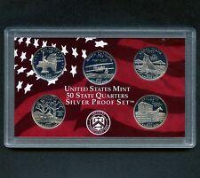 "2001 'S' USA Proof Silver ""State Quarter Set"" 5 Coins Encased"