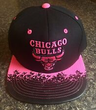 New CHICAGO BULLS SNAPBACK MITCHELL & NESS HAT NBA CAP Polarized PINK