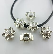 8pcs Tibetan Silver 13mm Sunflower Hollow Spacer Beads fit Charms Bracelet