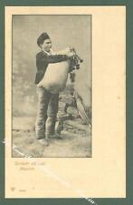 Sicilia. MESSINA. Costume. Cartolina d'epoca non viaggiata, inizio 1900.