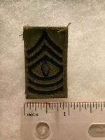 Authentic US Army First Sergeant E8 Rank BDU OD Green Insignia Patch