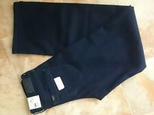 Lee Auberry, W26, L28, bleu marine, taille haute, coupe large, stretch, Women's