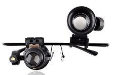 Jewelers Loupe Eyeglasses Magnifier 20X Magnifying LED Light Illuminated Frame
