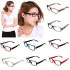 New Retro Unisex Clear Shell Lens Plain Nerd Geek Glasses With Plastic Frame
