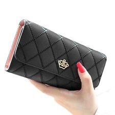 Lady Women Fashion Hasp Wallet Long Purse Clutch Crown Card Holder Handbag Bag