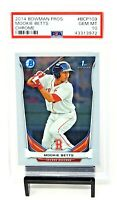 2014 Bowman Chrome RC Dodgers Star MOOKIE BETTS Rookie Card PSA 10 GEM MINT
