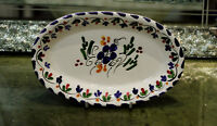 Collectible Vintage Hand Painted Wall Oval Plate European
