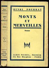 Henri Pourrat : MONTS ET MERVEILLES - 1934. S. P., Envoi