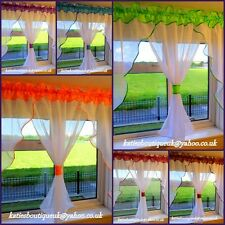 Beautiful White Crushed Voile Net  Curtains Home Window Decorations