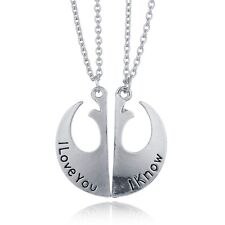 Fashion Star Wars Rebel Insignia Couple Necklace Gift I Love You I Know Pendant