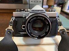 Olympus Om-1 35mm Slr Film Camera Zuiko Auto-S 50mm f/1.8 + accessories